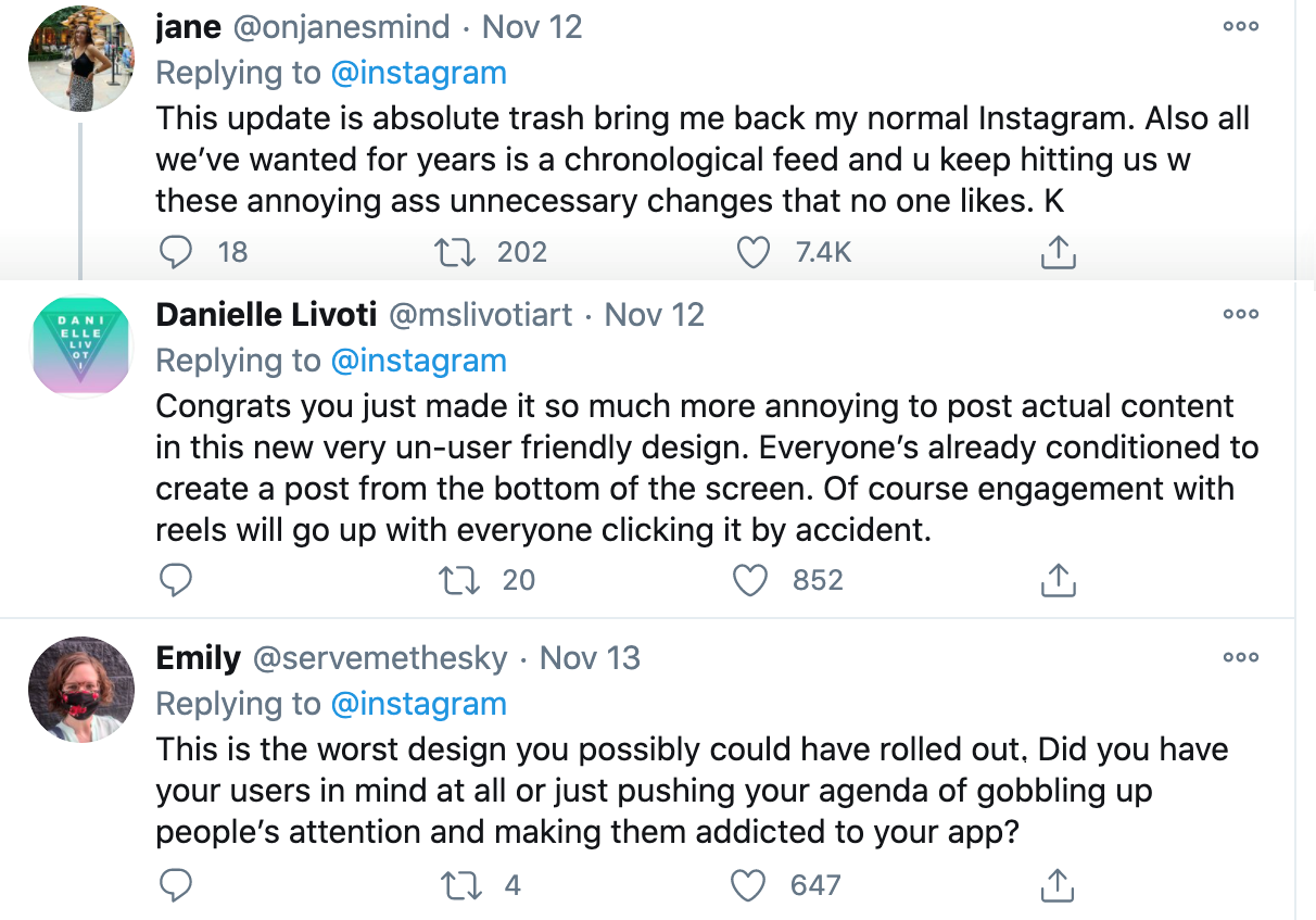The New Instagram Update & Why Social Platforms Don't Really Care What You Want
